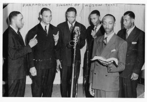 Paramount Singers - Photo courtesy Rev. A.C. Franklin, Texas Music Museum Archives