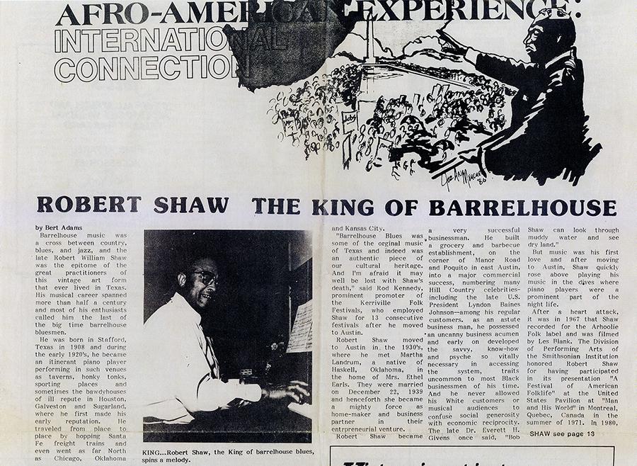 Robert Shaw: The King of Barrelhouse by Bert Adams