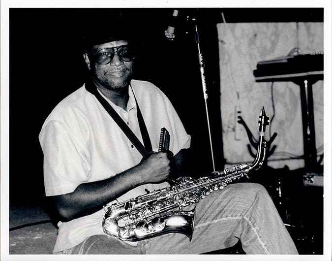 Mel Davis with his Saxophone