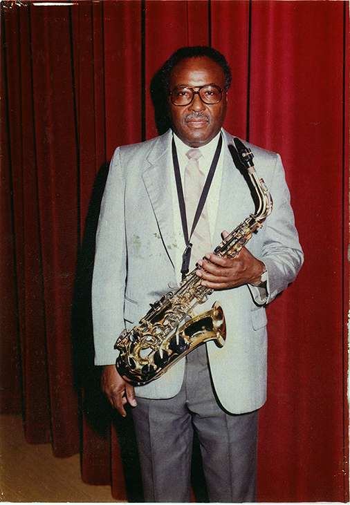 Saxophonist Walter Shaw. Texas Music Museum Archives